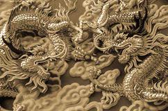 The fighting's dragons Royalty Free Stock Photo