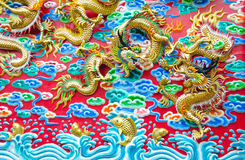 The fighting's dragons Royalty Free Stock Photos