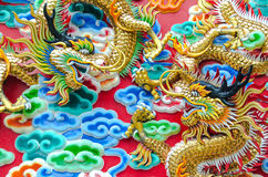 The fighting's dragons Stock Image