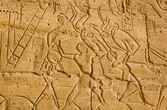 Fighting with Shields, Ramesseum, Luxor Stock Image