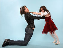 Fighting sisters Stock Images