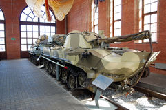 The fighting Soviet vehicle of a landing in the museum of Sakharov. Togliatti. Russia. The fighting Soviet vehicle of a landing in the museum of Sakharov. Museum Royalty Free Stock Photo