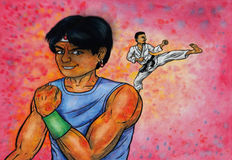 Fighting Spirit (The Power of Martial Arts, 2014) Royalty Free Stock Image