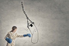 Fighting for success Stock Images