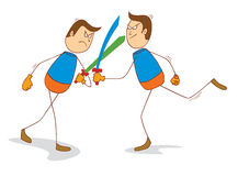 Fighting swords. Illustration of men doing fighting swords Royalty Free Stock Photo