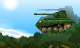 A fighting tank. Illustration of a fighting tank Stock Photography