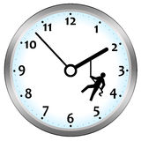 Fighting time. Fighting lack of time and deadlines Stock Photography