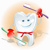 Fighting tooth Stock Images