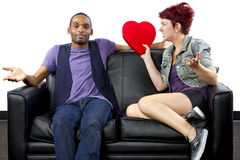 Fighting on Valentines Day Stock Photos
