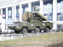 Fighting Vehicle of Surface-to-Air Missile System Osa. In Izhevsk Royalty Free Stock Photography