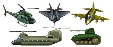 Fighting vehicles. Illustration of the fighting vehicles on a white background Royalty Free Stock Images
