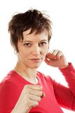 Fighting woman Royalty Free Stock Photos
