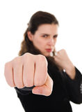 Fighting Woman Royalty Free Stock Images