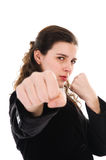 Fighting Woman Stock Image