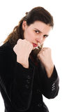 Fighting Woman Stock Photography
