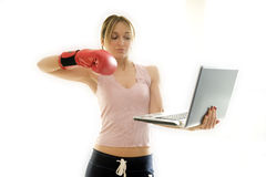 Fighting work problems Stock Photo