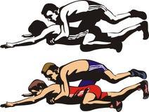 Fighting wrestlers Stock Photos