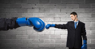 He fights for success Royalty Free Stock Photography