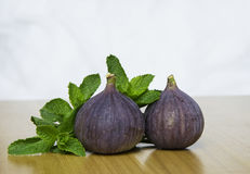 Figi owoc z świeżą mennicą Obraz Stock