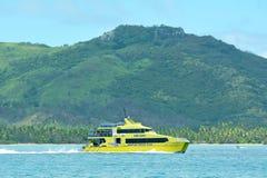 Figi veloci del catamarano dell'aletta di filatoio di Yasawa Fotografie Stock