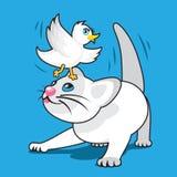 Figlarka z ptakiem royalty ilustracja