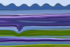 Figlarnie fala 00345 A - Abstrakcjonistyczny linia brzegowa krajobraz z figlarnie fala royalty ilustracja