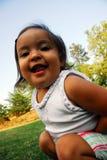 Figlarnie mała dziewczynka Fotografia Royalty Free