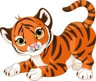 Figlarnie tygrysi lisiątko ilustracji