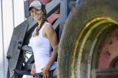 Figlia degli agricoltori Fotografie Stock Libere da Diritti