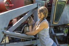 Figlia degli agricoltori Fotografia Stock