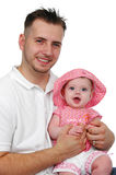 Figlia del bambino e del padre fotografia stock libera da diritti