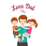 Figlia di Carrying Son And del padre Immagini Stock