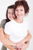 Figlia felice della madre Fotografia Stock