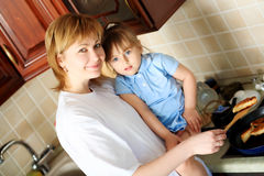 figlia la sua madre Fotografie Stock