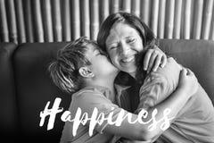 Figlio Bliss Words Graphic Concept di amore dei genitori immagine stock libera da diritti