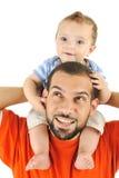 Figlio del bambino e del padre Fotografia Stock