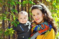 Figlio del bambino e della madre Fotografia Stock