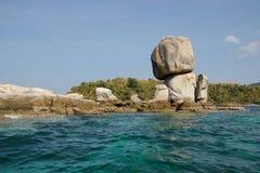 Figlio di Hin del KOH, bella roccia Immagine Stock