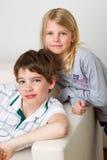 Figlio e figlia Fotografia Stock Libera da Diritti