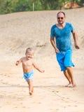 Figlio e padre fotografia stock