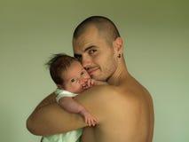 Figlio e papà Fotografia Stock