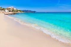 Figlio Servera Mallorca della spiaggia di Maiorca Cala Millor Fotografie Stock Libere da Diritti