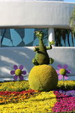 Figment topiary. At Epcot flower & Garden festival Royalty Free Stock Photo