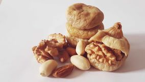 Figo natural nuts da noz da amêndoa Foto de Stock Royalty Free