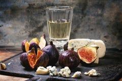 Figos e queijo Foto de Stock