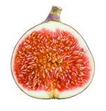 Figos. Fruto maduro. Metade no fundo branco Imagem de Stock Royalty Free
