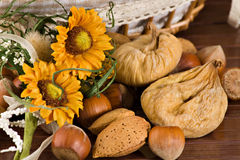 Figos Nuts e secados Imagens de Stock Royalty Free