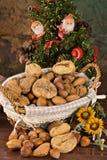 Figos Nuts e secados (no Natal) fotografia de stock