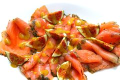 Figos Salmon e frescos Foto de Stock