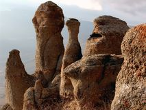 Figoure van rotsen royalty-vrije stock fotografie